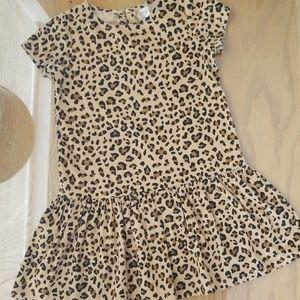 Carter's Kid Girl Corduroy Leopard Print Dress 7